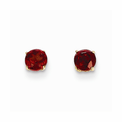 14k Madi K Round Garnet 4mm Post Earrings Se2285