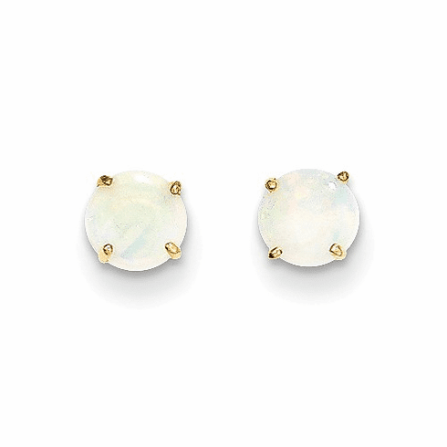 14k Madi K Round Opal 5mm Post Earrings Se2296
