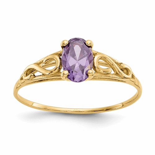 14k Madi K Synthetic Amethyst Ring Gk276