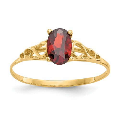 14k Madi K Synthetic Garnet Ring Gk275