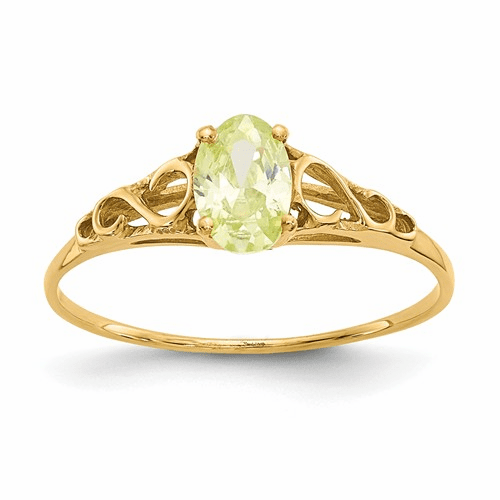 14k Madi K Synthetic Peridot Ring Gk282