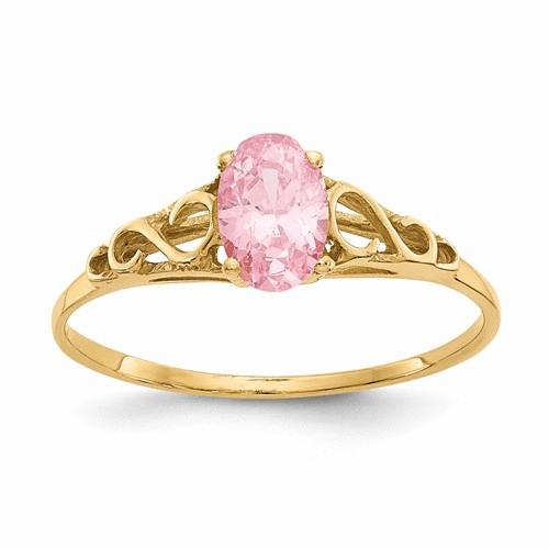 14k Madi K Synthetic Rose Zircon Ring Gk284