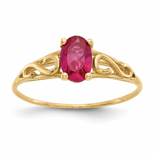 14k Madi K Synthetic Ruby Ring Gk281