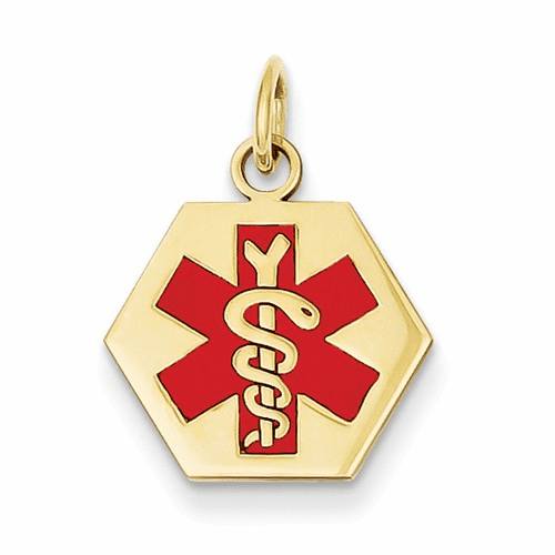 14k Medical Jewelry Pendant Xm36