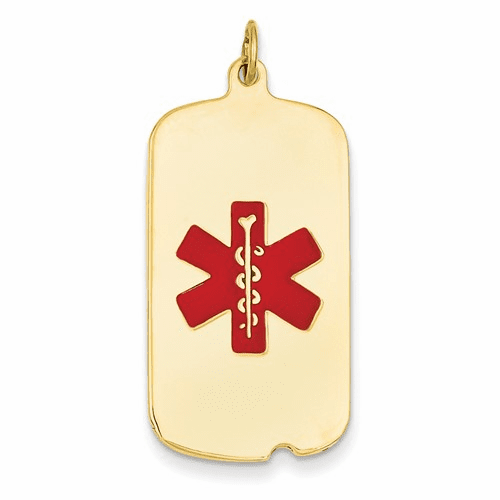 14k Medical Jewelry Pendant Xm56