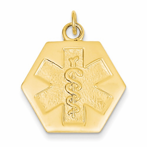14k Medical Jewelry Unenameled Pendant Xm31n