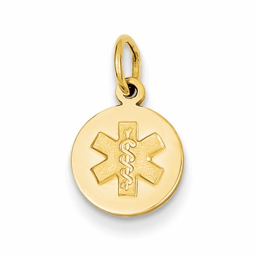 14k Medical Jewelry Unenameled Pendant Xm406n