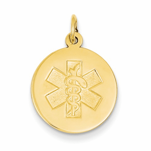 14k Medical Jewelry Unenameled Pendant Xm407n