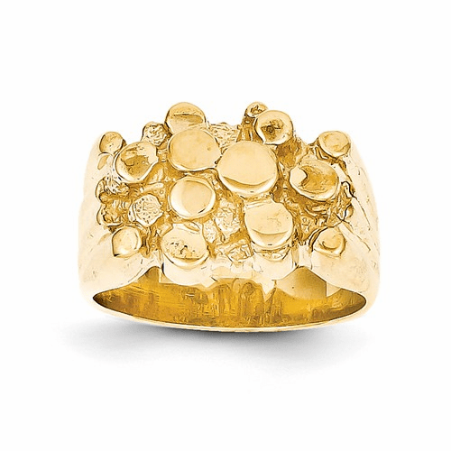 14k Men's Nugget Ring Ch159