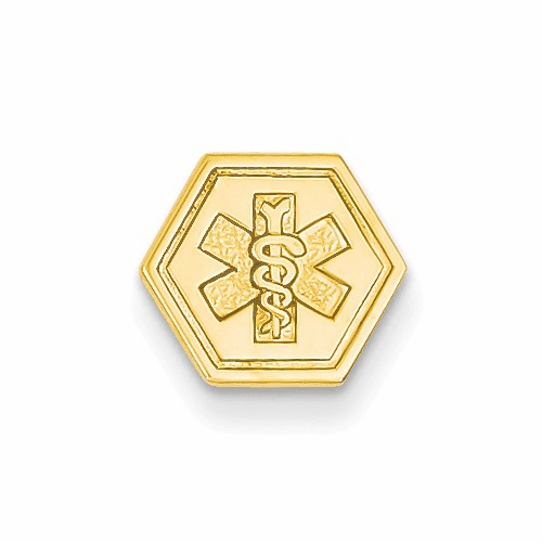 14k Non-enameled Attachable Medical Emblem Charm Xm402n