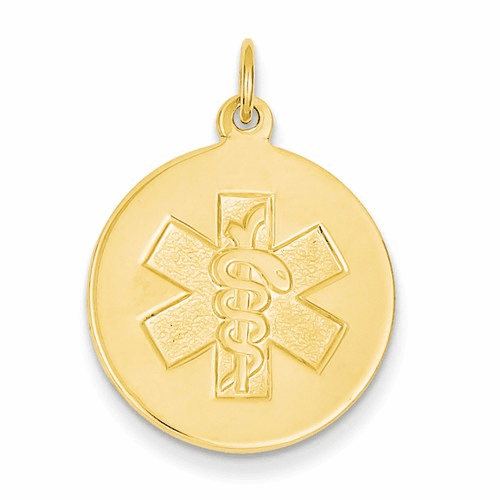 14k Non-enameled Medical Jewelry Pendant Xm408n