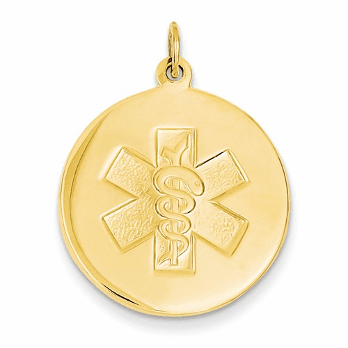 14k Non-enameled Medical Jewelry Pendant Xm409n