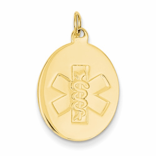 14k Non-enameled Medical Jewelry Pendant Xm414n