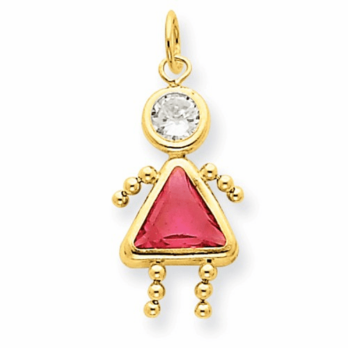 14k October Girl Birthstone Charm Xck174
