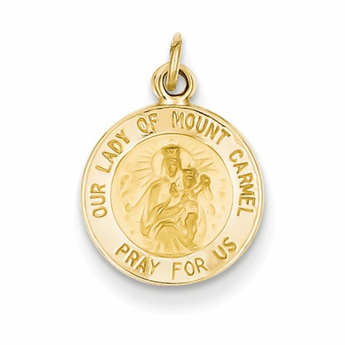 14k Our Lady Of Mt. Carmel Medal Charm Xr651