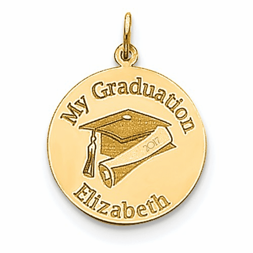 14k Personalized Graduation Charm Xna361y