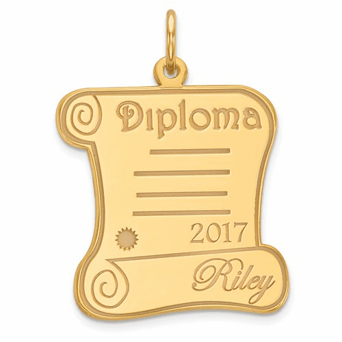 14k Personalized Graduation Charm Xna370y