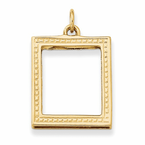 14k Picture Frame Pendant A0396