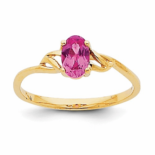 14k Pink Tourmaline Birthstone Ring Xbr139