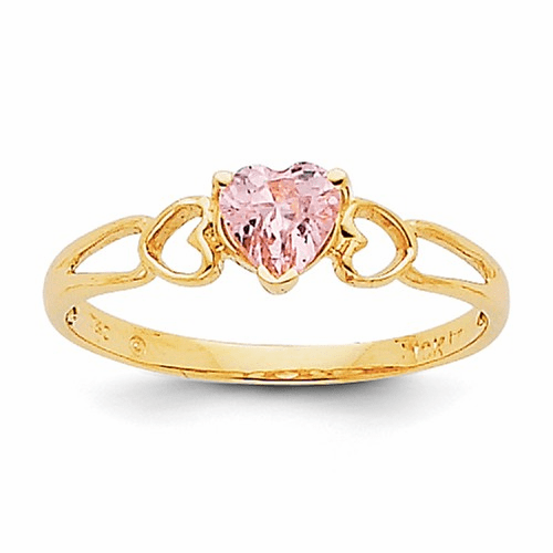 14k Pink Tourmaline Birthstone Ring Xbr163