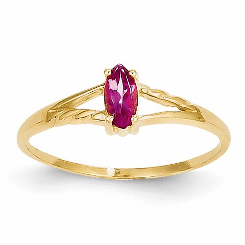 14k Pink Tourmaline Birthstone Ring Xbr187