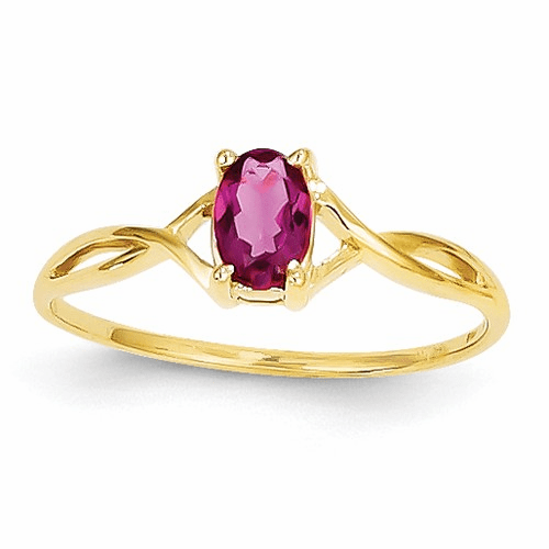 14k Pink Tourmaline Birthstone Ring Xbr235