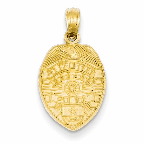 14k Police Officer Badge Pendant D1232
