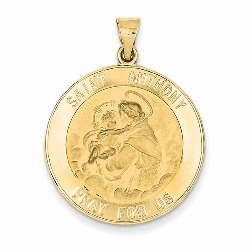 14k Polished And Satin St. Anthony Medal Pendant Xr1293