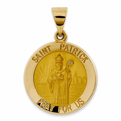 14k Polished And Satin St. Patrick Medal Pendant Xr1373