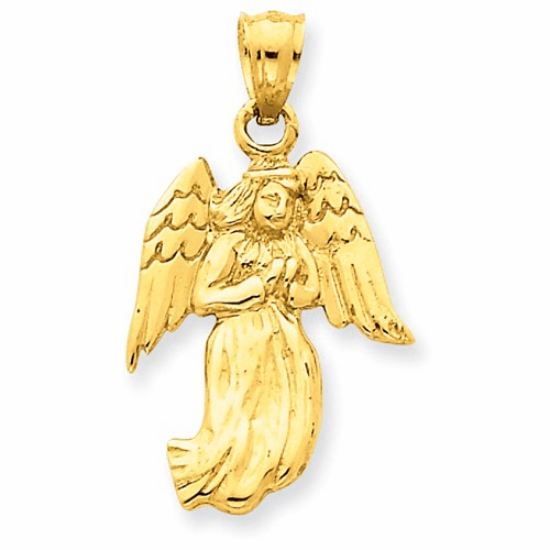14k Polished Angel Charm C1899