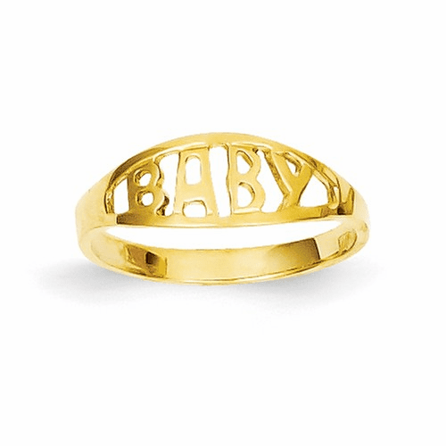 14k Polished Baby Ring D116