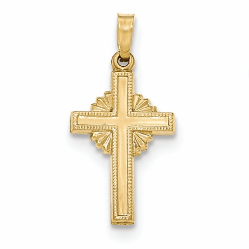 14k Polished Celtic Cross Pendant Xr1469