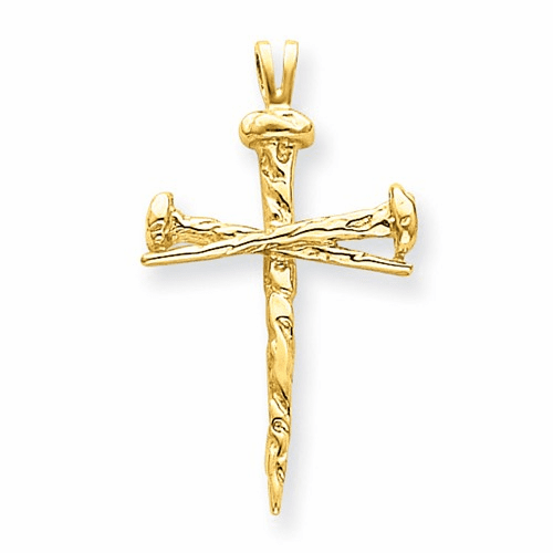 14k Polished Cross Charm D164