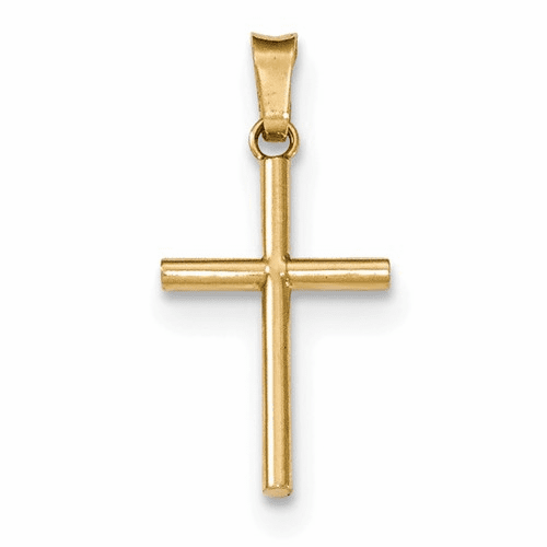 14k Polished Cross Pendant Xr1410