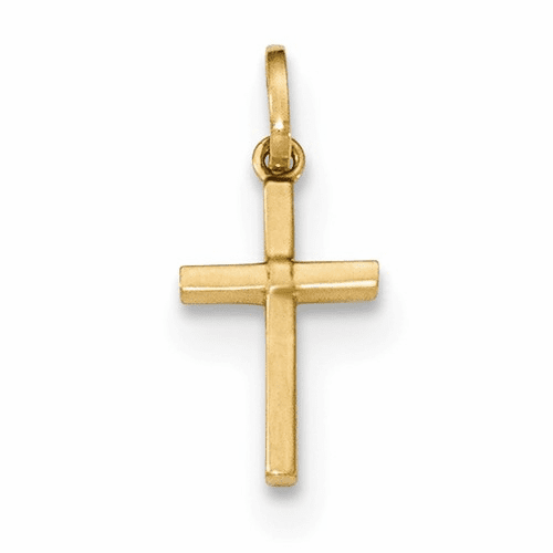 14k Polished Cross Pendant Xr1411
