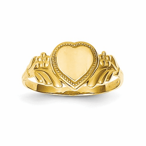 14k Polished Heart Baby Ring K5139