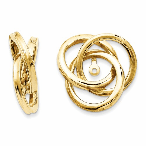 14k Polished Love Knot Earring Jackets Th223