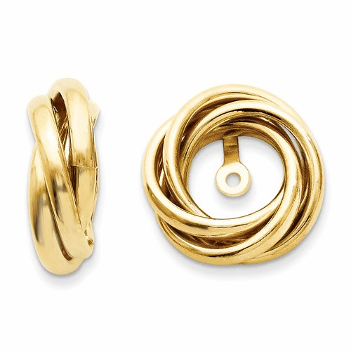 14k Polished Love Knot Earring Jackets Th225
