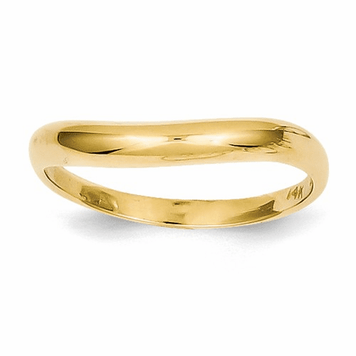 14k Polished Stackable Wave Ring K584