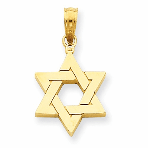 14k Polished Star Of David Pendant D1691
