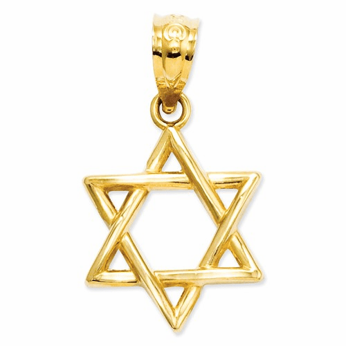 14k Polished Star Of David Pendant D1695