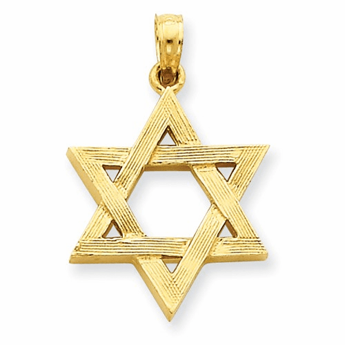 14k Polished Star Of David Pendant D1696