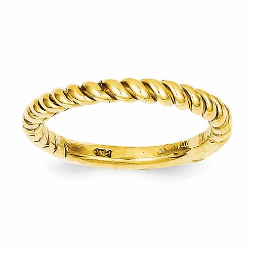 14k Polished Twisted Band D908