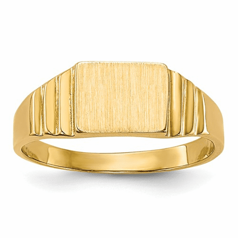 14k Rectangular Baby Signet Ring R522