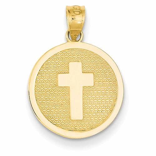 14k Reversible Cross & 1st Holy Communion Charm K5085