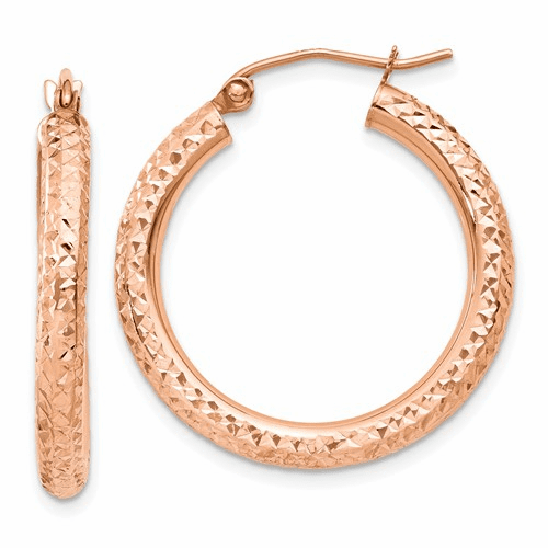 14k Rose Gold Hoop Earrings