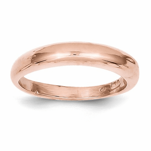 14k Rose Gold Polished Band Ring K586