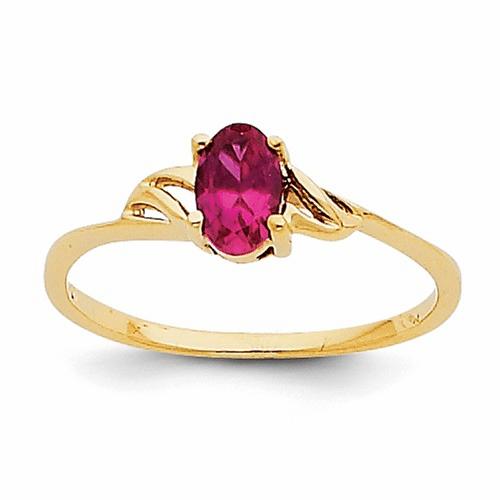14k Ruby Birthstone Ring Xbr136