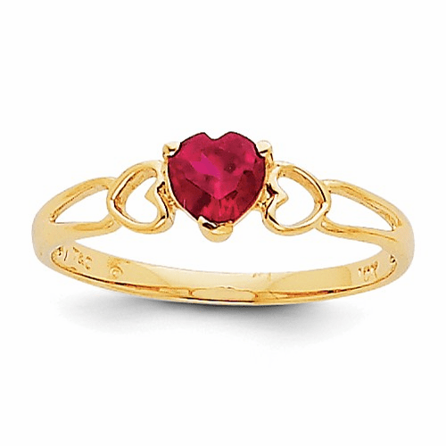 14k Ruby Birthstone Ring Xbr160