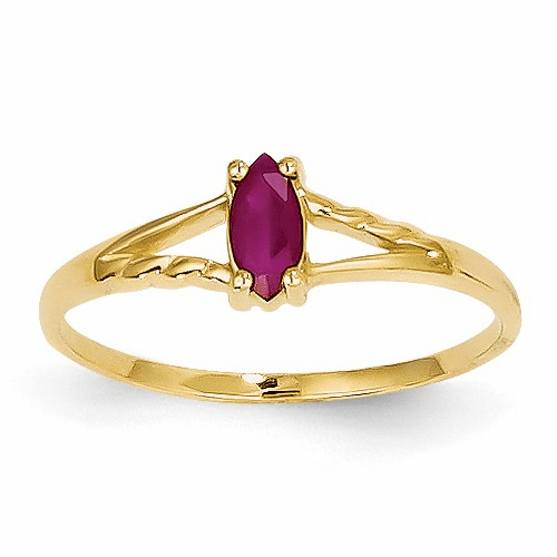 14k Ruby Birthstone Ring Xbr184